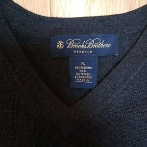 Brooks Brothers Chocolate Brown Wool Sweater XL V